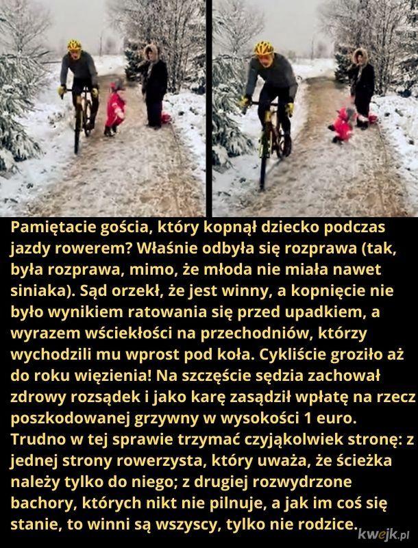 Cyklista vs. bombelek