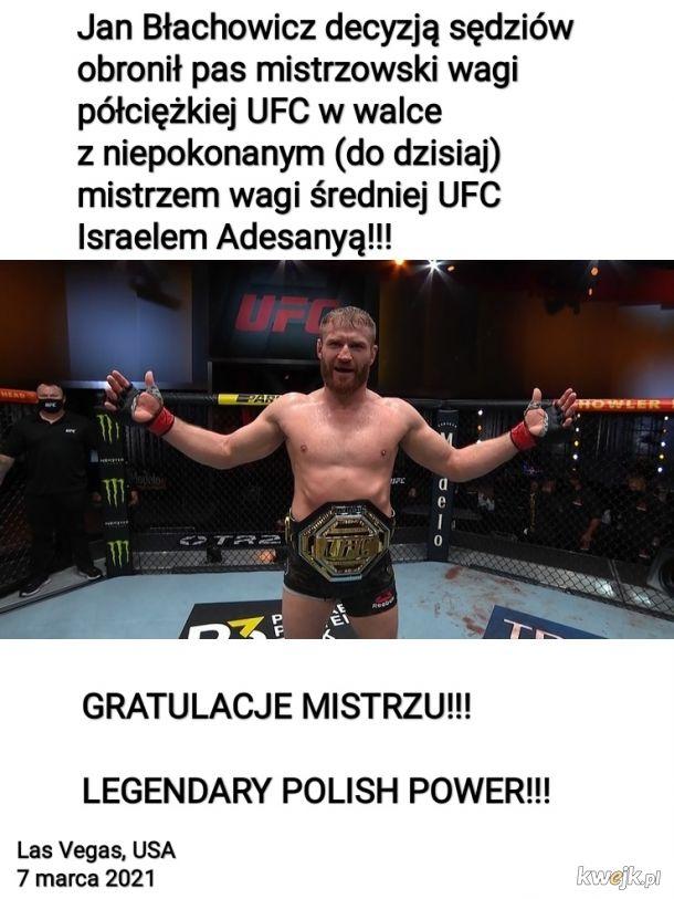 Jan Błachowicz nadal mistrzem UFC - GRATULACJE!!!