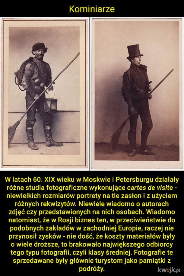 Rosyjskie profesje i stany na portretach z XIX wieku