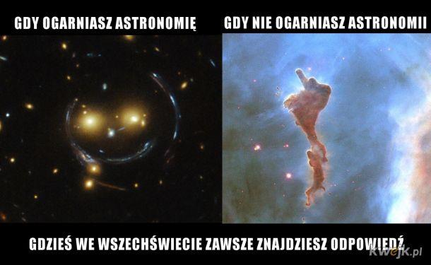 Astronomia to też fizyka ;-)