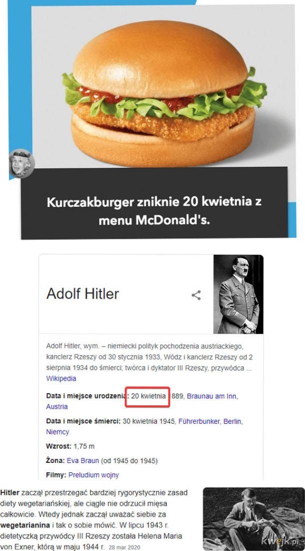 Zastąpiony wege burgerem. Przypadek? ( ͡ʘ ͜ʖ ͡ʘ)