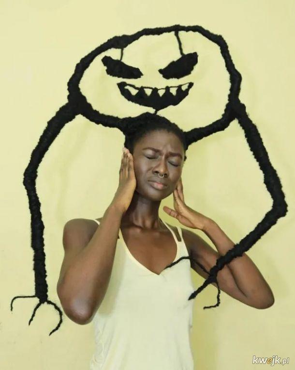 Afrykańska artystka tworzy niesamowite rzeźby z własnych włosów