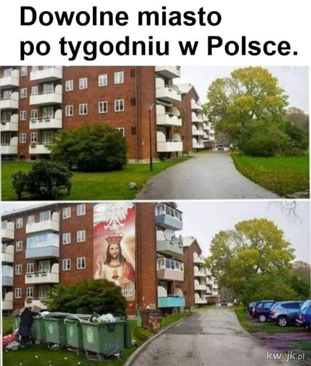 Dowolne miasto po tygodniu w Polsce