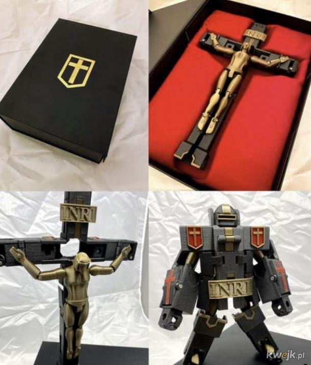 Jezus Prime Ukrzyżowany Zbawca Transformerów