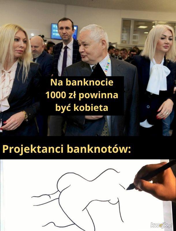 Banknoty, w przeciwieństwie od kobiet tego pana, czymś się od siebie różnią