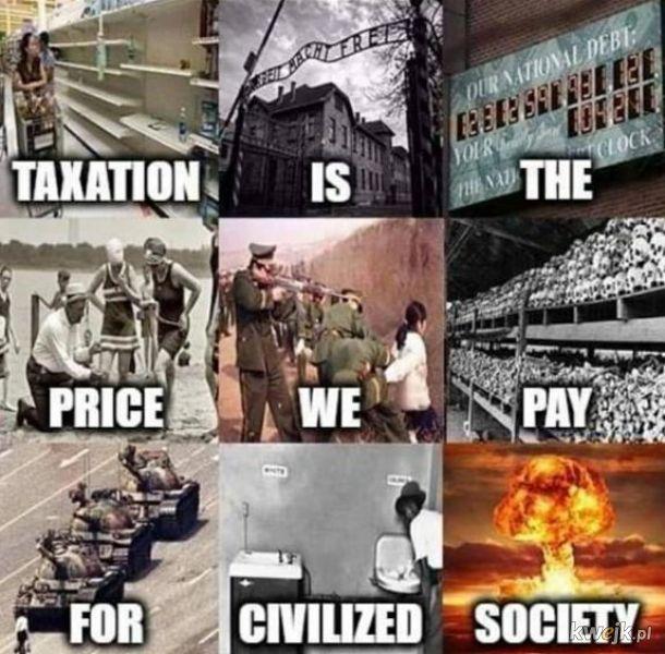 Podatki to kradzież