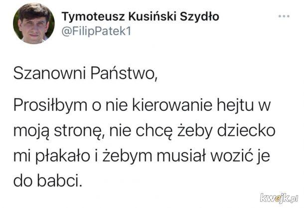 Tweet od Tymka
