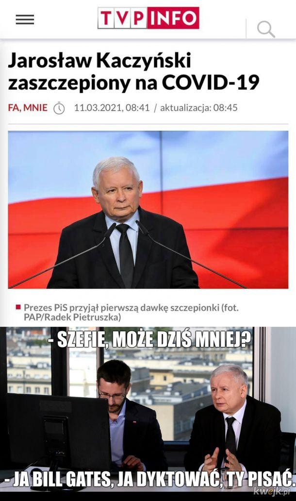 Kaczyński zaszczepiony