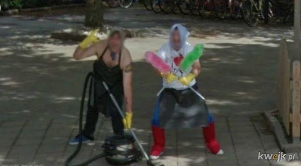 Niezwyczajne zdjęcia z Google Street