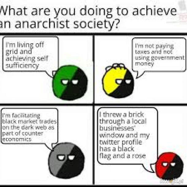 Anarchizmu - jakość poszła w pizdu