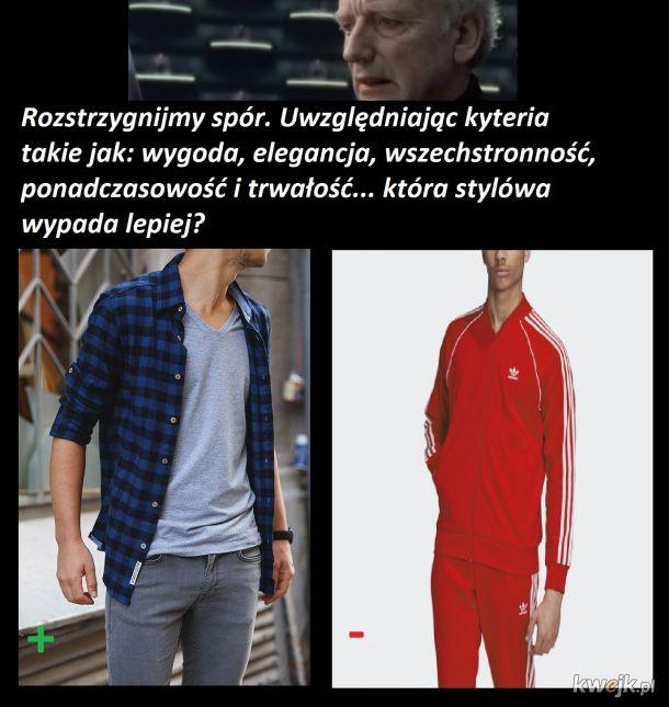 Jeans n flanel vs Tracksuit