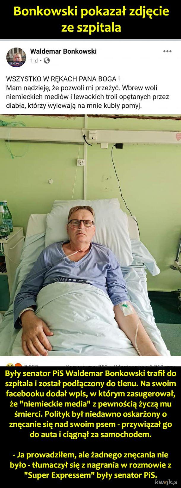 Bonkowski w szpitalu