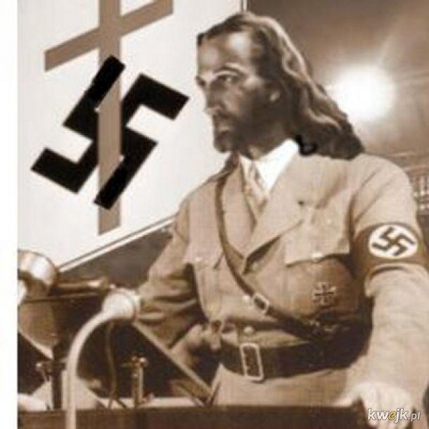 Jezus przekonuje naród niemiecki do eksterminacji Żydów