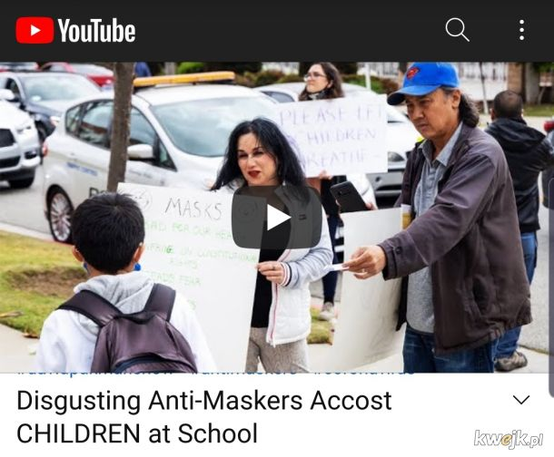 Covidioci napastuja dzieci pod szkola