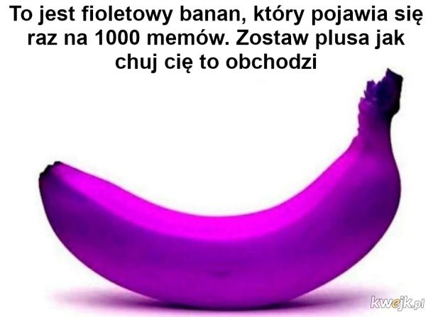 Fioletowy banan