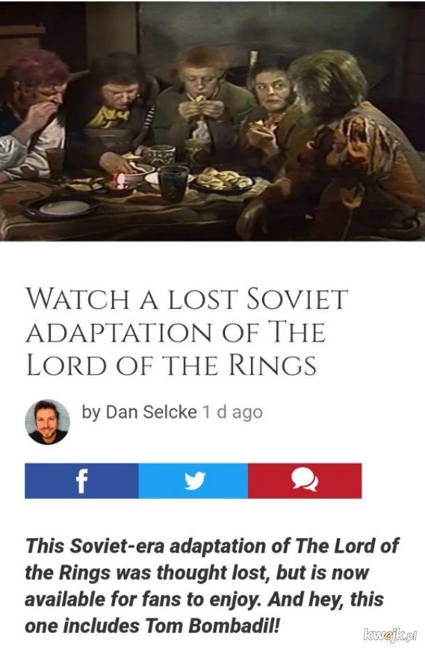 Sowiecka wersja Władcy Pierścieni. Sauron ma wąsy.