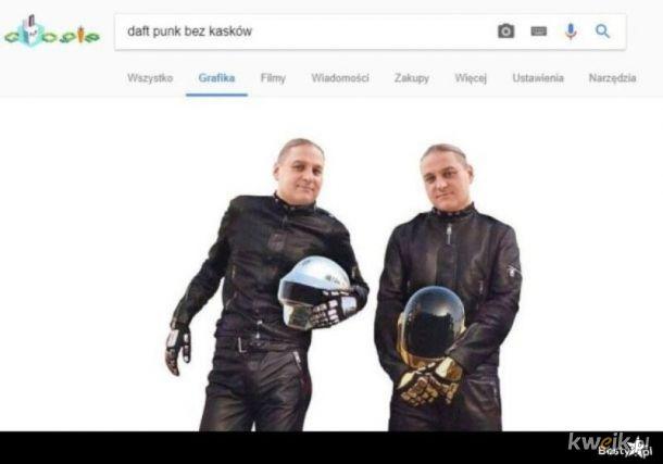 Daft Punk bez kaskóe