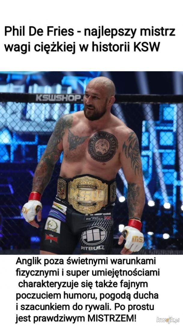 Phil De Fries - najlepszy mistrz wagi ciężkiej w historii KSW
