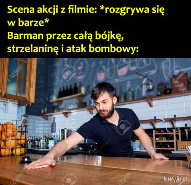 Barman w filmie