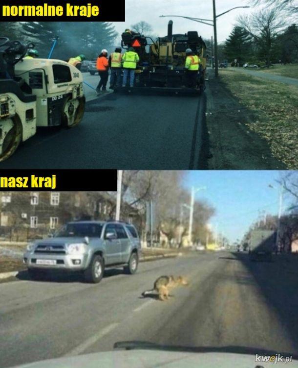 To wy remontujecie drogi?