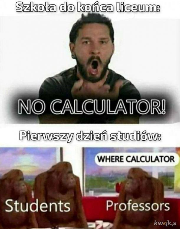Kalkulator w życiu
