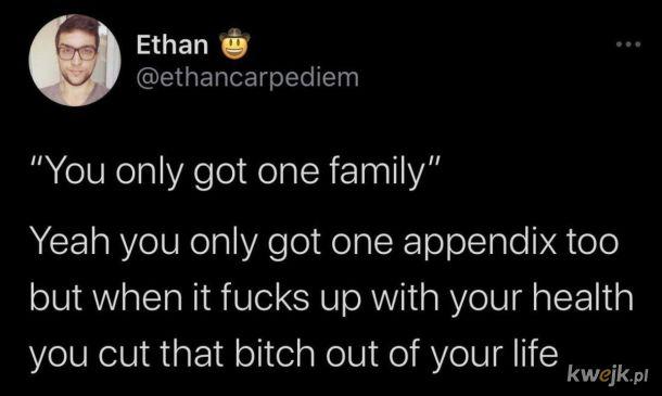 Niektóre rodziny są jak wyrostek w stanie zapalnym.