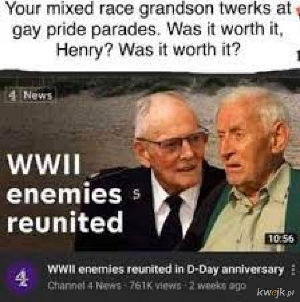Znając życie Henry jest uznawany za faszystę przez swoich wnuków.