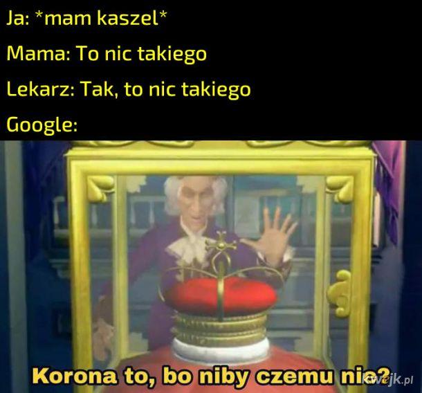 Objawy w Google