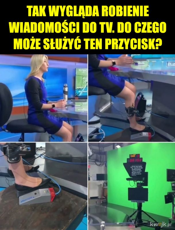 Może prompter?