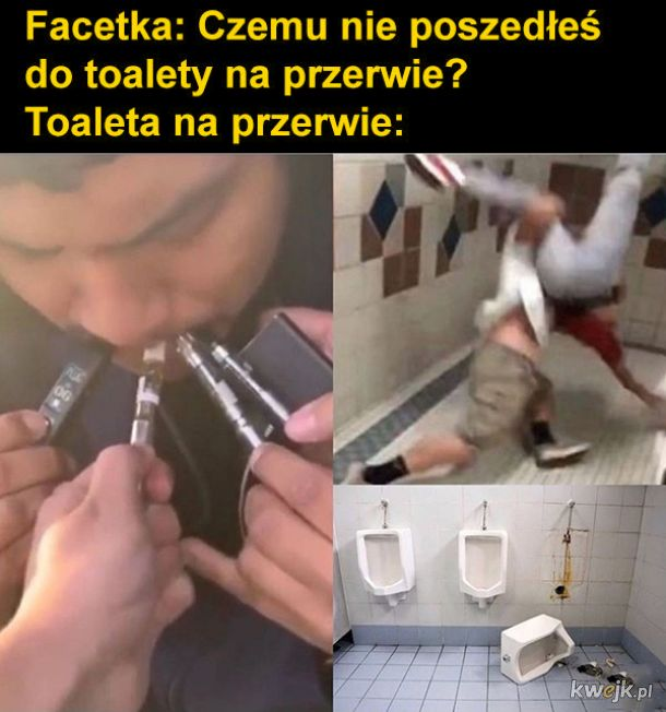Toaleta na przerwie