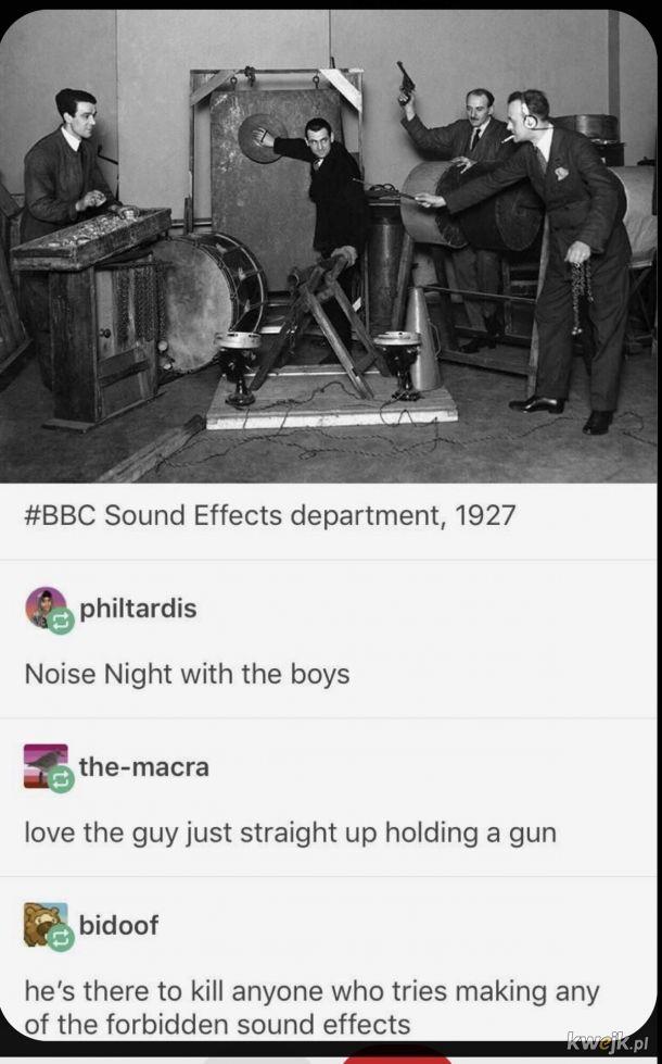 Efekty dźwiękowe.