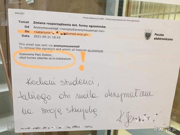 Serdeczne kondolencje dla studentów lekarskiego z Wrocławia