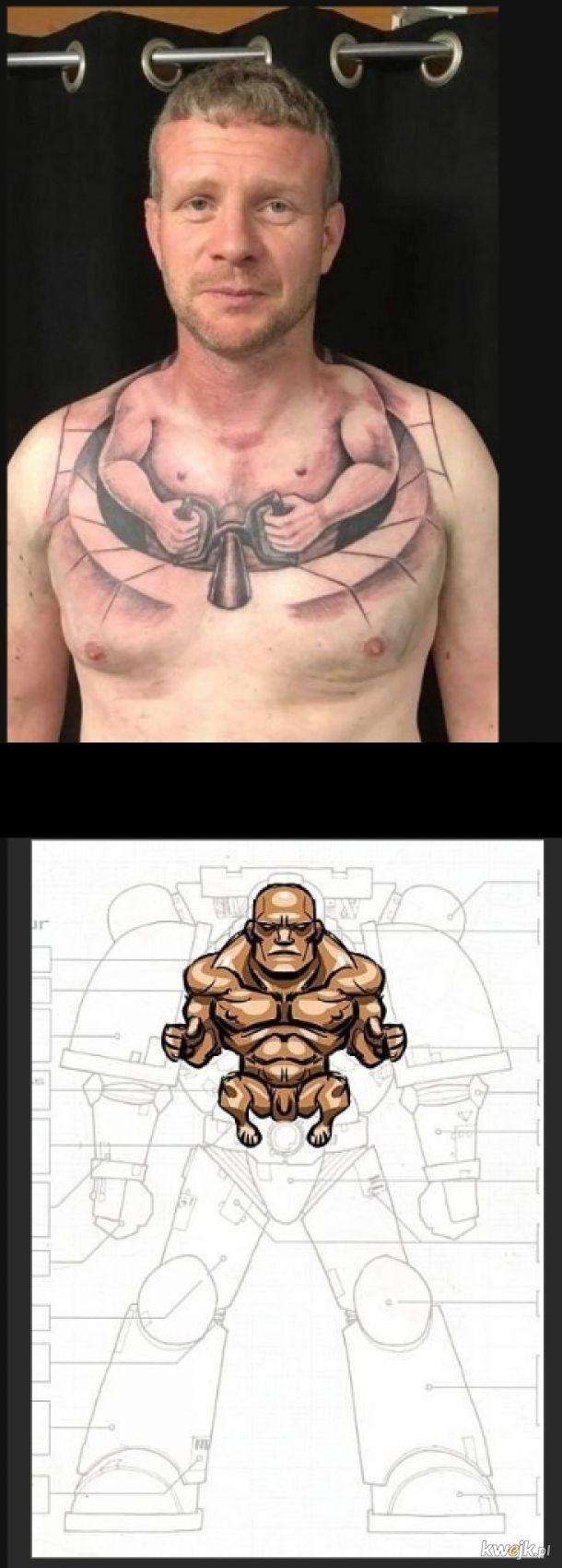 Genialny tatuaż mecha