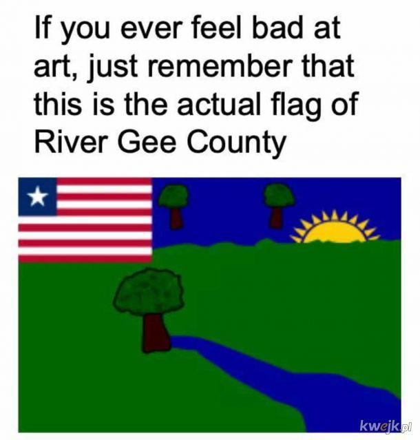 Autentyczna flaga.