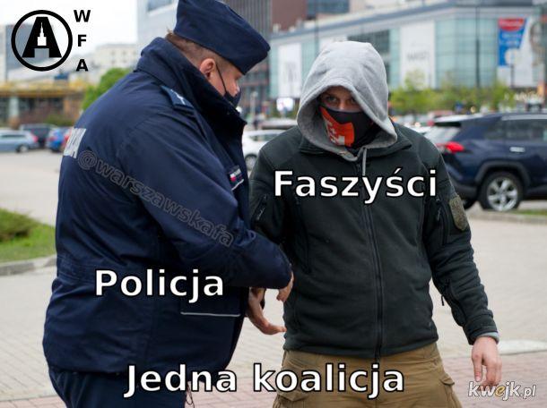 faszyści policja jedna koalicja