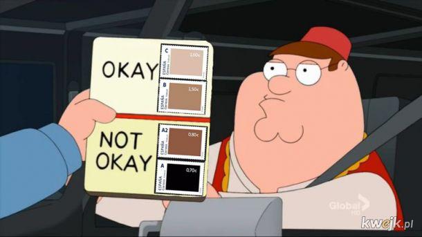 Znaczki w kolorze skóry na poczcie z cennikiem - PSZYPAU XDDDD