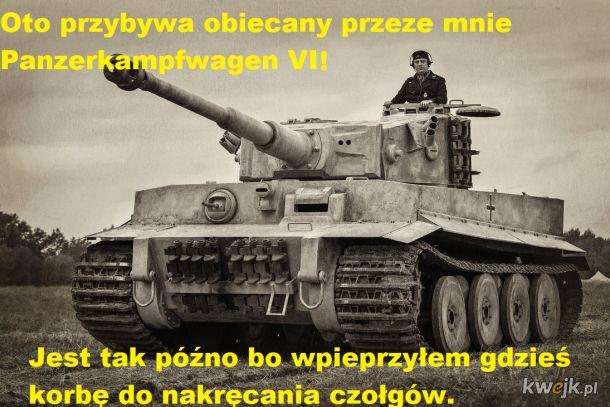 Panzerkampfwagen VI tygrysek (w tle leci Panzerkampf)