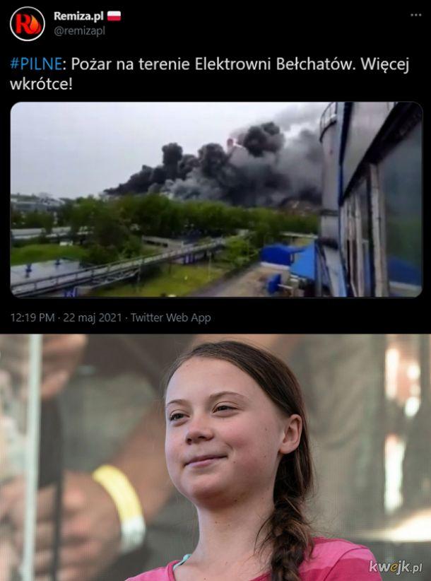 Pożar w elektrowni