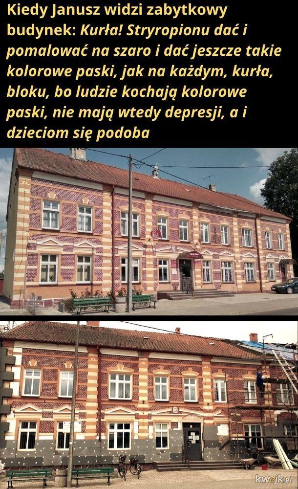 Budynek Urzędu Gminy w Baniach Mazurskich