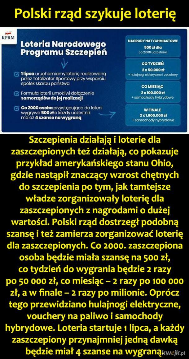Loteria dla szczepionych