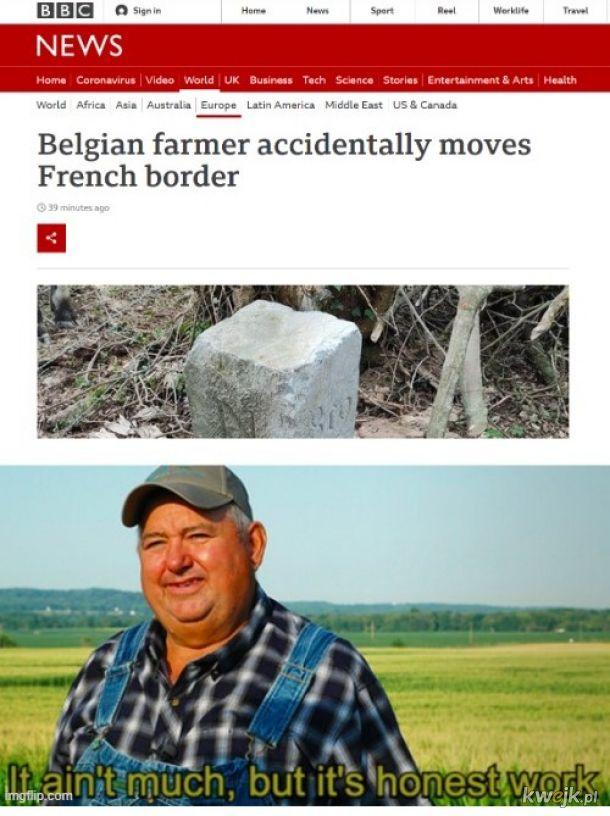 Panie, traktor mi ten kamień blokował!