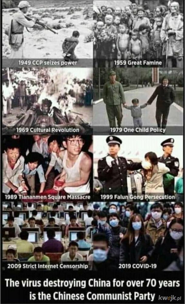 Chińska Partia Komunistyczna składa się z nie chińczyków.