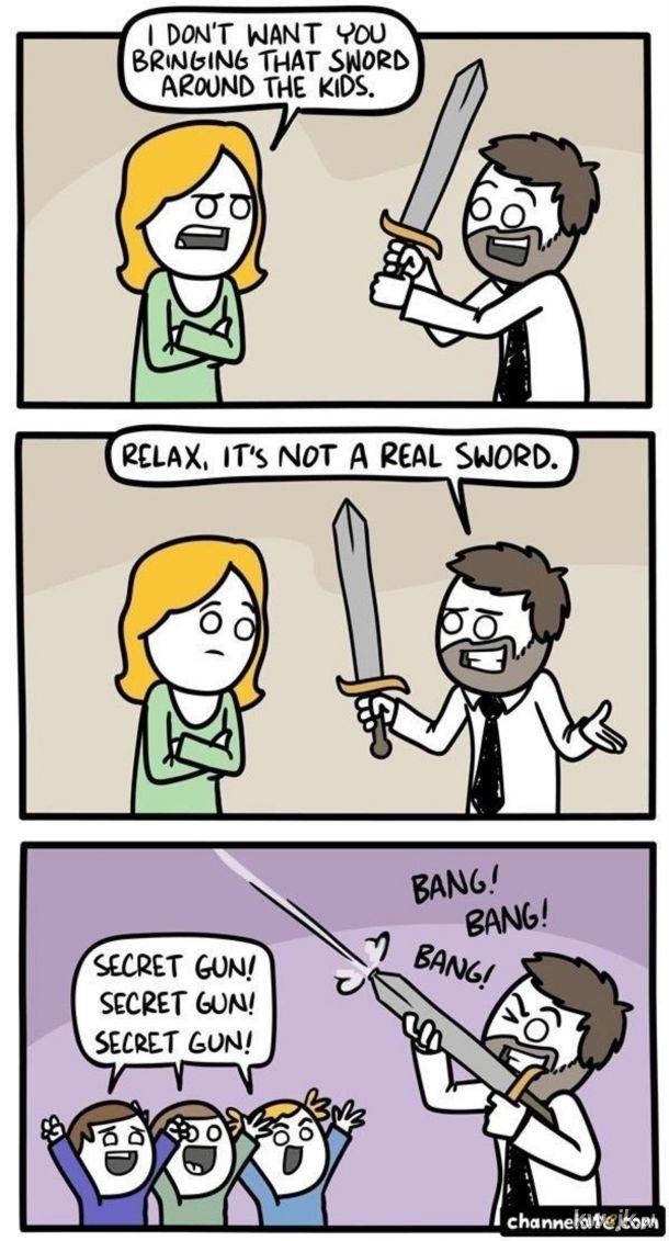To nie miecz.
