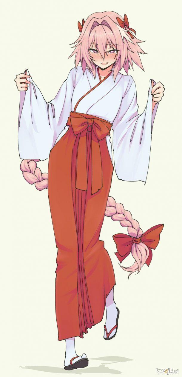Piękny Astolfo w świątynnym uniformie.