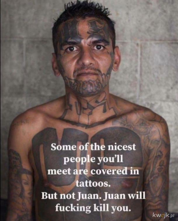 Ten nie jest miłym człekiem z tatuażem.