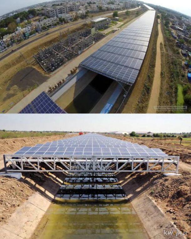 Kanały solarne w Indiach.