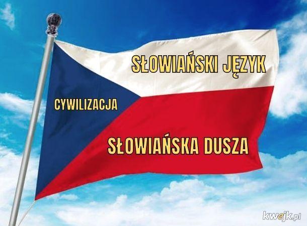 Znaczenie barw na czeskiej fladze. Jeden element nas różni...