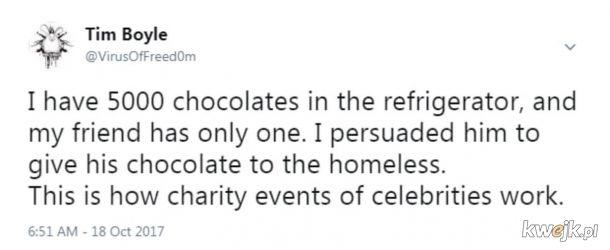 Tak to mniej więcej działa. Ale połowa tej czekolady ląduje w rękach bogatych.