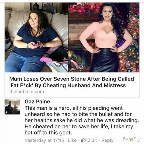 Poświęcił się dla jej zdrowia.