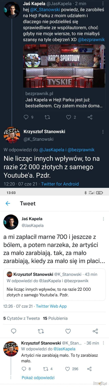 Jaś Kapela vs Stanowski